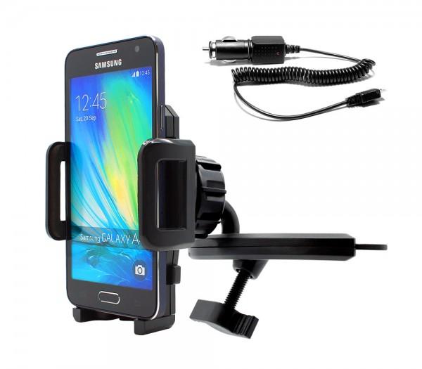 360° KFZ CD Schlitz Schacht Halterung Auto Halter Ladekabel Samsung Galaxy A3