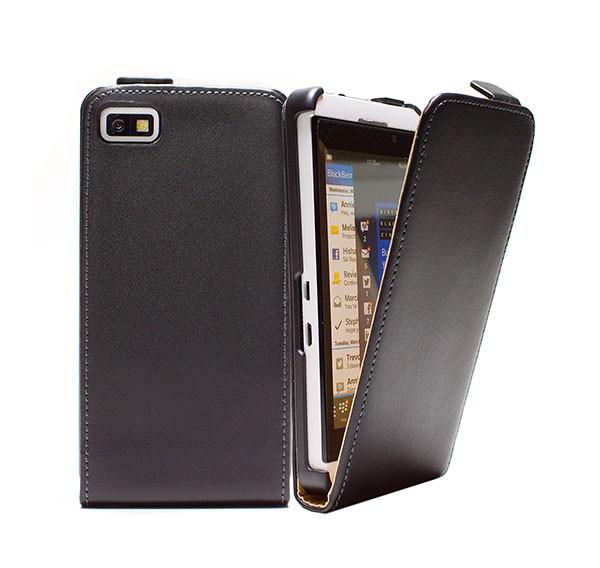 BlackBerry Z10 Tasche Schutz Hülle Case Etui Cover Handy Flip Bumper + Folie