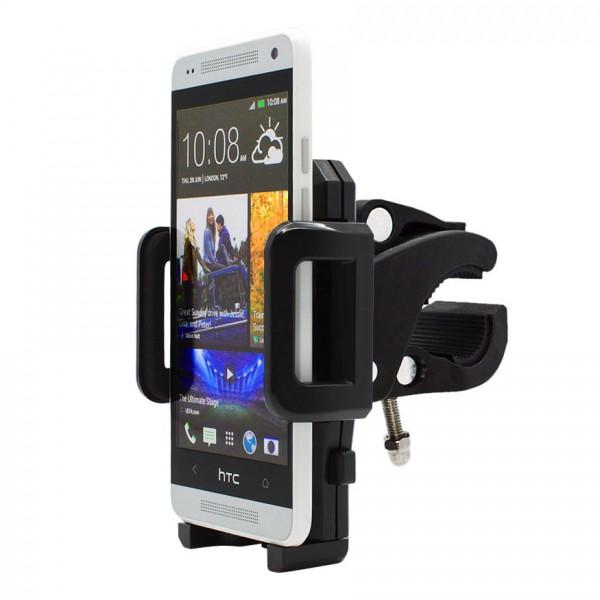 360° Fahrrad Halterung Lenker Halter MTB Bike Schwarz HTC One Mini M4