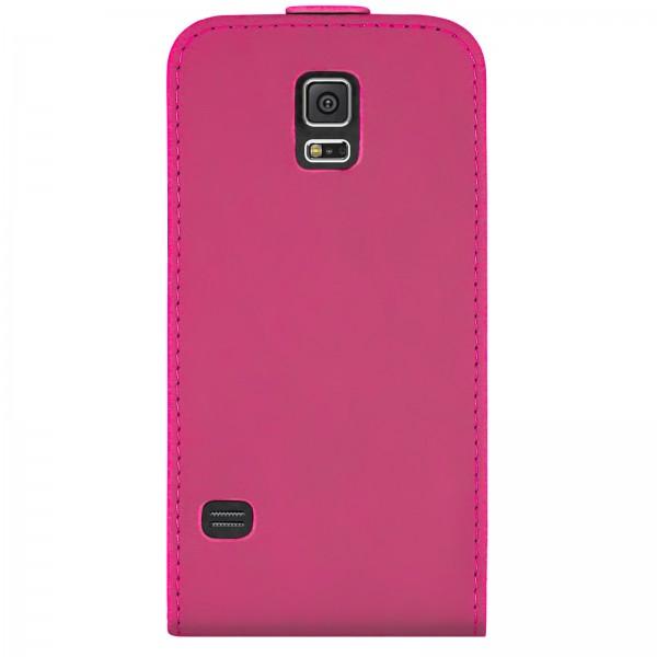 Mobilefox Handy Tasche Schutz Hülle Flip Etui für Samsung Galaxy S5 Pink