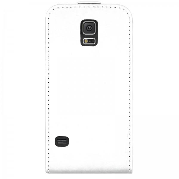 Mobilefox Handy Tasche Schutz Hülle Flip Etui für Samsung Galaxy S5 Weiß