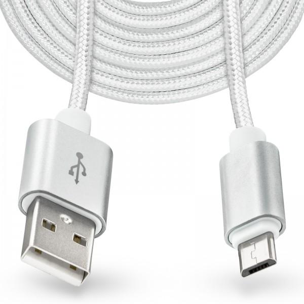 Mobilefox 3m Micro-USB auf USB Kabel Stecker 2.0 Anschluss Laden ...