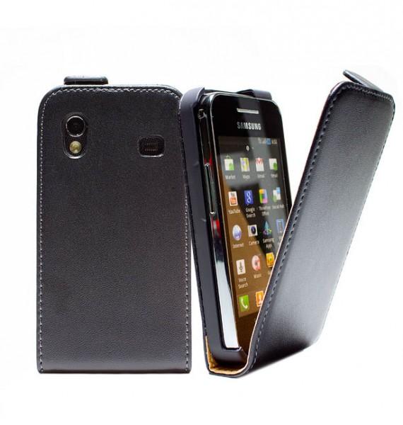Handy Tasche Schutz Hülle Flip Case Etui Cover für Samsung Galaxy ace GT-S5830