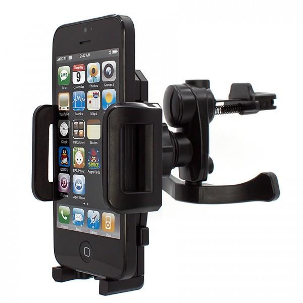 Mobilefox Lüftungs Halterung Lüftungsgitter KFZ Halter Apple iPhone 5/5S 360°