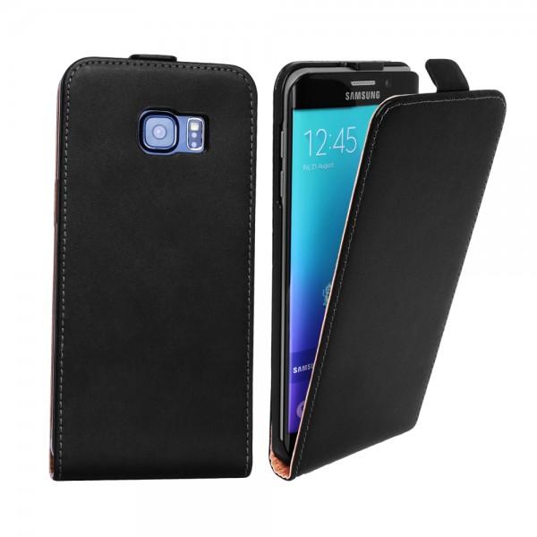 Samsung Galaxy S6 Edge Plus Tasche Case Etui Flip Schwarz
