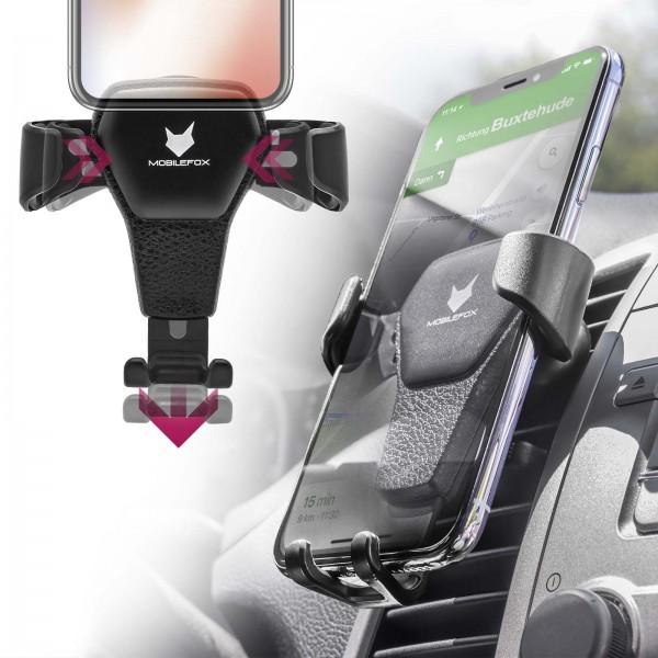 Mobilefox Universal Auto KFZ Smartphone Handy Halterung Lüftung Automatik Halter