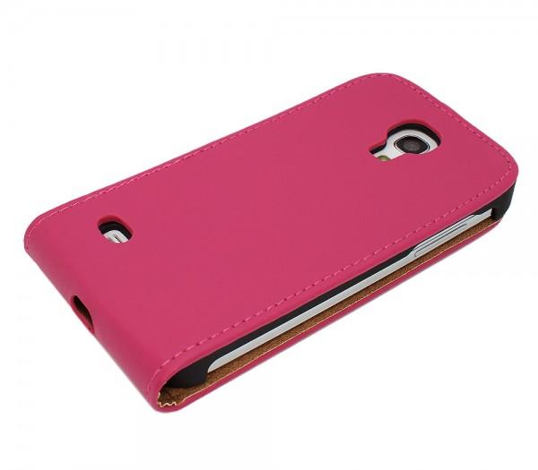 Mobilefox Handy Tasche Schutz Hülle Flip Etui für Samsung Galaxy S4 mini Schwarz