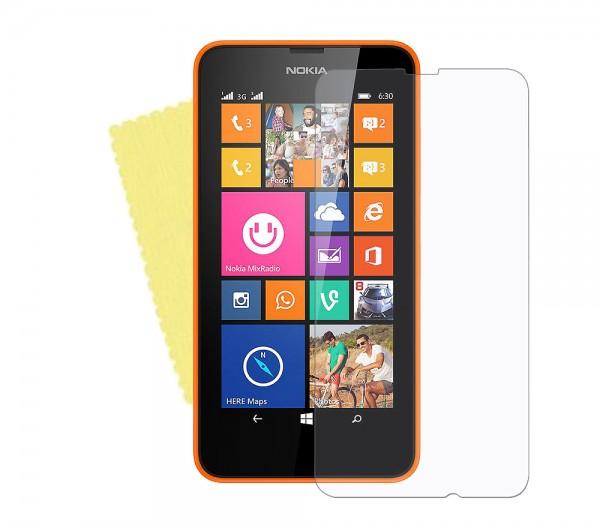 3x DISPLAY HANDY SCHUTZ FOLIE Nokia Lumia 630 + REINIGUNGSTUCH Screen Protector
