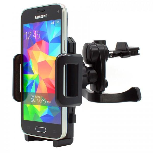 360° Samsung Galaxy S5 mini SM-G800F Lüftungs Gitter Halter Halterung Auto Handy