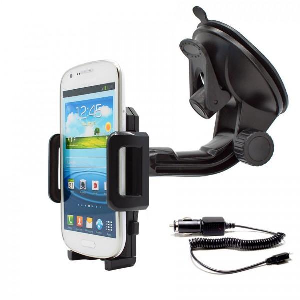 360° Universal Auto Halterung Saugnapf inkl. Ladekabel Samsung Galaxy Express