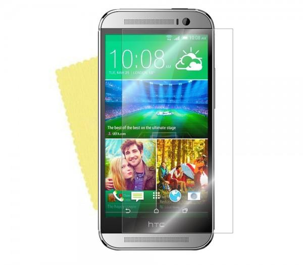 3x DISPLAY HANDY SCHUTZ FOLIE HTC One (M8) + REINIGUNGSTUCH Screen Protector