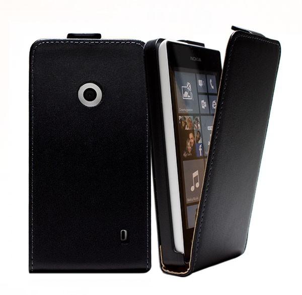 Nokia Lumia 520 Tasche Schutz Hülle Case Etui Cover Handy Flip Bumper + Folie