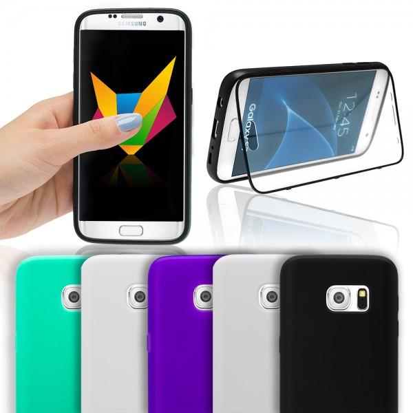 Handy Flip Touch Cover Case Display Schutz Hülle Silikon Tasche Bumper Schale