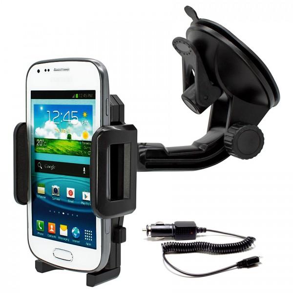 360° Universal Auto KFZ-Halterung Saugnapf inkl. Ladekabel Samsung Galaxy S Duos