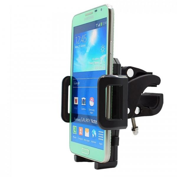 360° Fahrrad Halterung Lenker Halter MTB Bike Schwarz Samsung Galaxy Note 3 Neo