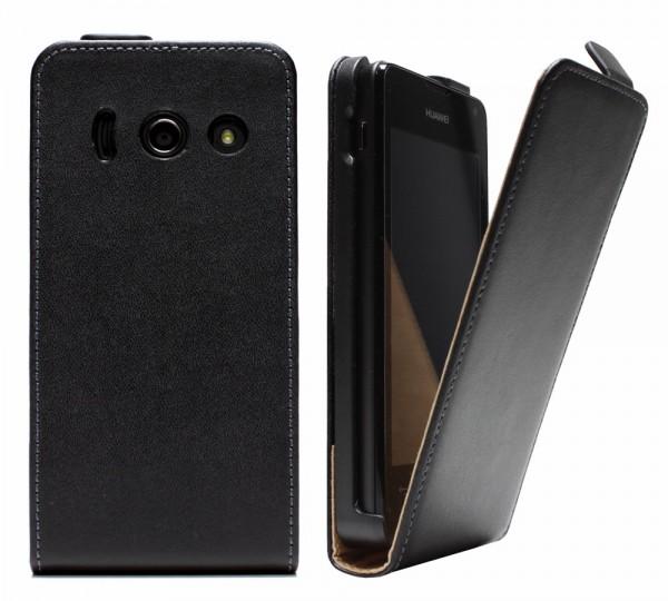 Huawei Ascend Y300 Tasche Schutz Hülle Case Etui Cover Handy Flip Bumper + Folie